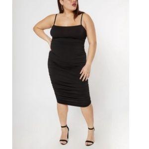 Plus Size Ruched Midi Dress
